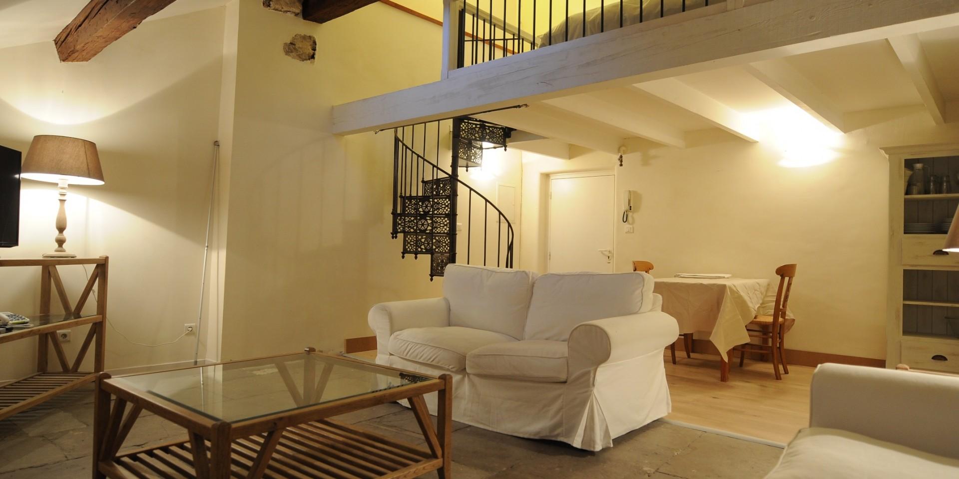 Living room with mezzanine