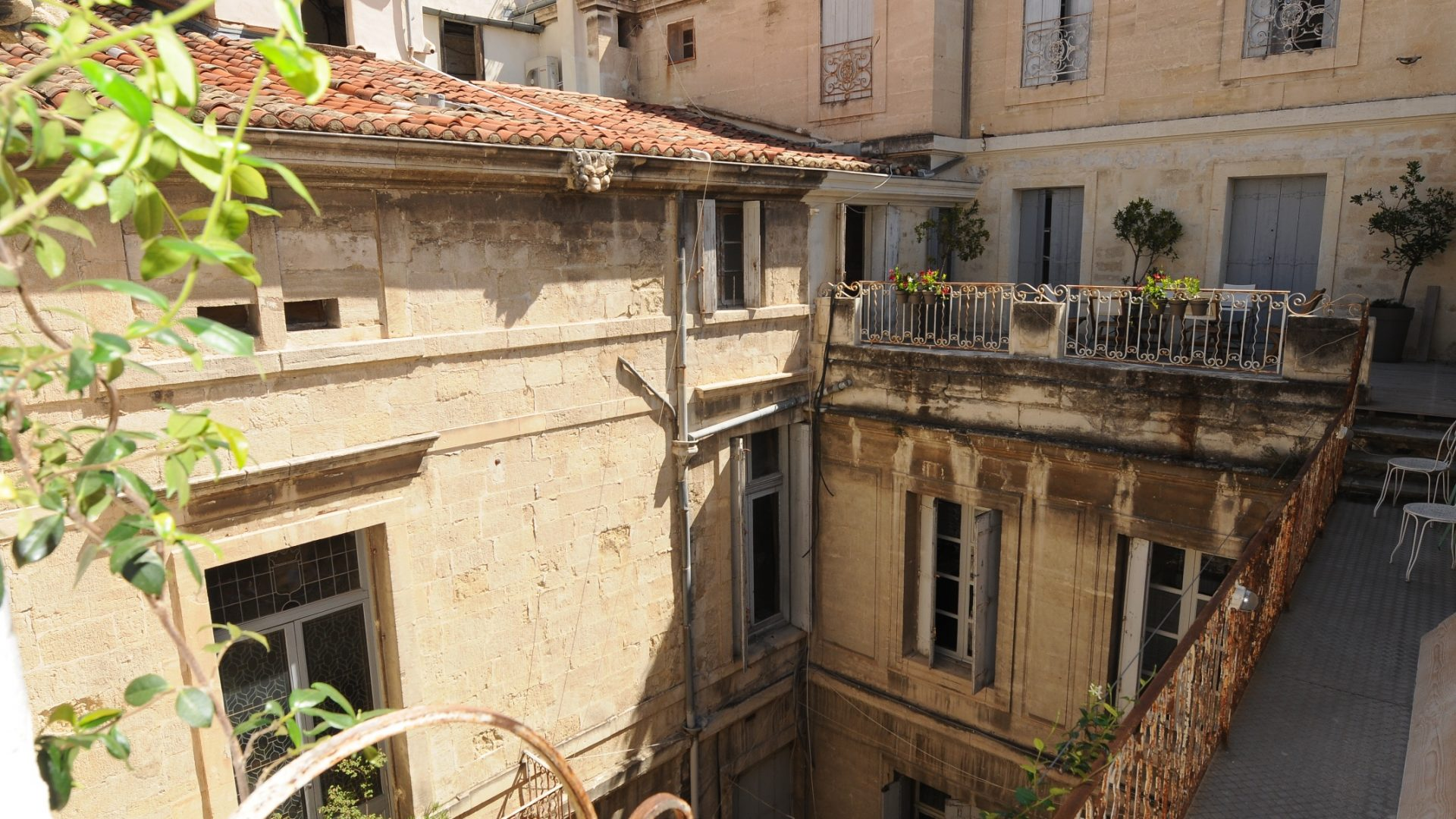 View on the courtyard from the apartment